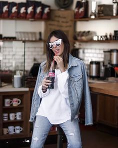 Lisa Germaneau x Reiko California Style, Coca Cola, Spring Summer, Denim, Instagram, Jackets, Summer Vibes, Lisa, Fashion