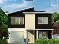 Yeoman Homes Hamilton NZ 2 storey home Rototuna 2 Storey House Design, Storey Homes, Hamilton, Mansions, House Styles, Building, Interior, Outdoor Decor, Home Decor