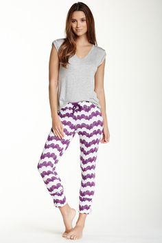 9dbcfb26f26 40 Winks by BedHead V-Neck Tee   Printed Legging Set Comfy Pants