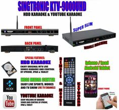 karaoke system Sing System has the best within the pre-set rates. The items are tested out to be the best before dispatching to needful customers. Dj Equipment For Sale, Professional Karaoke Machine, Karaoke Mixer, Karaoke Player, Technical Glitch, Party Activities, Up And Running, Media Center
