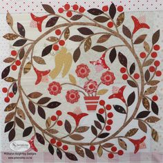 The first block in the Winterwood Quilt Pattern BOM. The Winterwood Quilt Pattern BOM program instructions are here
