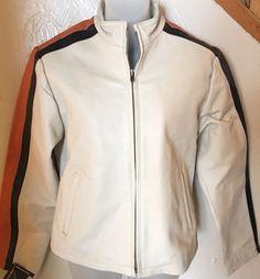 DANIEL SMART Tan Leather Biker Motorcycle Jacket Women's Size XS - $200  #DanielSmart #Motorcycle