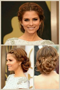 Hairline braided updo ♡ #wedding #style #hairstyles #updo #beautiful #bride #bridesmaid #bridalhairstyles