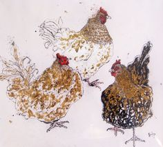 Anna Wright - Chickens  For more art visitArt—Life!