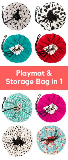 How to tidy toys! Playandgo storage bag and playmat for kids in 1 Toy Storage Solutions, Toy Storage Bags, Kids Storage, Smart Storage, Storage Ideas, Diy Baby Gym, Toddler Christmas, Sewing Projects For Kids, Toddler Gifts