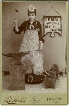 "Anonymous Works: ""F.P. Diehl Horse Shoer & Blacksmith"""