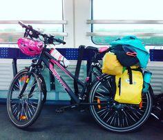 Das Mädchen-Rad inkl. Gepäck auf der abschließenden Heimfahrt der Radtour  #radlhasen #bikepacking #Neckar #Neckartour #Neckarradweg #Neckarradtour #Neckartal #Fahrrad #Fahrradtour #Radreise #Radurlaub #Radwandern #Bike #bikelover #biketour #biketravel #BW #papablog #papablogger #papa #vatertochter #fatherhood #stolzerpapa #mädchenpapa #bodehase - Eine Papa-Tochter-Radtour