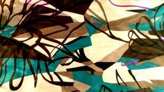 Mid-century retro abstract patterned silk scarf. Retro Fabric, Abstract Pattern, Mid Century, Quilts, Blanket, Artwork, Silk, Work Of Art, Auguste Rodin Artwork