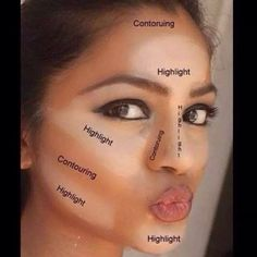 Highlight and contour with BB flawless www.youniquebysarahtinker.com