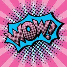 text design with halftone effects on a burst background. Fond Pop Art, Art Pop, Fiesta Pop Art, Pop Art Party, Pop Art Wallpaper, Pop Art Girl, Colorful Artwork, Text Design, Pop Art Design
