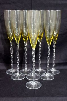 d8e384dde869 8 Pc. Art Glass Champagne Flutes