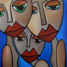 We're Fine Painting by Tom Fedro - Fidostudio