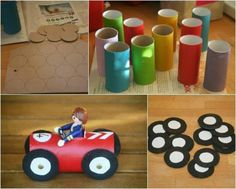 Mechanics car craft - indoor activity for transport party.