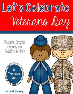 "This pack is FULL of materials to help teach your students about Veterans Day.  A Detailed Description of Everything Included:-Veterans Day book suggestions with clickable links-What is freedom?"" ""What does it mean to be brave?"" ""What is Veterans Day"" writing prompts- 7 different military ""Dear Veteran"" letter writing pages that feature 7 different military branch clipart images-Interview a Veteran page-Veteran's Day KWL and Chart Parts-Veterans KWL and Classroom chart parts -Veterans…"