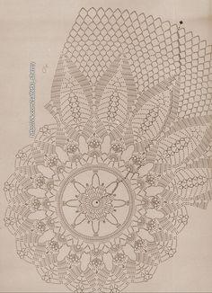 Фотография Crochet Doily Diagram, Crochet Doily Patterns, Quilt Patterns, Crochet Dollies, Crochet Lace, Mantel Redondo, Animal Alphabet, Crochet Tablecloth, Black Rings