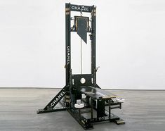 Chanel Guillotine and other sculptures by Tom Sachs - BOOOOOOOM! - CREATE * INSPIRE * COMMUNITY * ART * DESIGN * MUSIC * FILM * PHOTO * PROJECTS