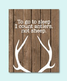 To go to sleep I count antlers not sheep by RainbowsLollipopsArt