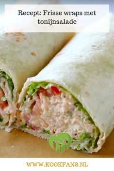 Rolled chicken breast with candied tomatoes - Clean Eating Snacks Vegetarian Recepies, Healthy Recipes, Dutch Recipes, Italian Recipes, Paninis, Pita Wrap, Taco, Clean Eating Snacks, Main Dishes