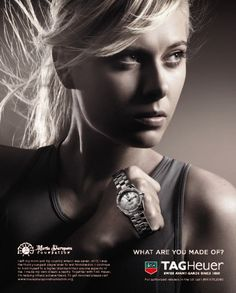 Maria Sharapova for TAGHeuer