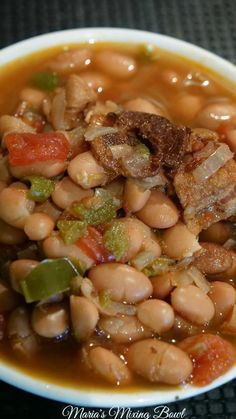 Slow Cooker Spicy Pinto Beans Slow Cooker Spicy Pinto Beans – Maria's Mixing Bowl Dry Beans Recipe, Beans In Crockpot, Slow Cooker Beans, Crock Pot Slow Cooker, Crock Pot Cooking, Pressure Cooker Recipes, Crockpot Recipes, Cooking Recipes, Recipe For Mixed Beans