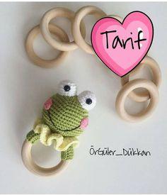 Baby crochet teethers and pacifiers – Artofit Crochet Frog, Crochet Baby Toys, Crochet Motifs, Crochet Animals, Crochet For Kids, Crochet Dolls, Baby Knitting Patterns, Amigurumi Patterns, Amigurumi Doll