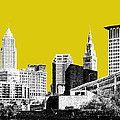 Cool #blackandyellow Cleveland art
