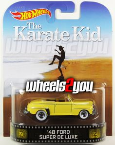 48 FORD SUPER DELUXE The Karate Kid Hot Wheels 2014 Retro Entertainment D Case #HotWheels #48FORDSUPERDELUXE