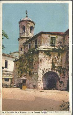 CUBA HABANA CASTILLO DE LA FUERZA SIN ESCRIBIR (Postales - Postales Extranjero - América - Cuba)