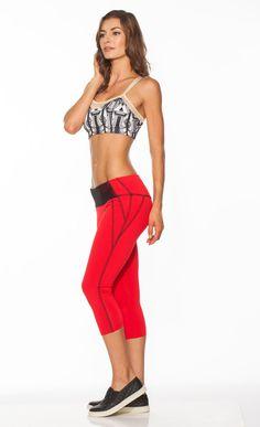 b49c381c8ea367 Crimson Red Diamond Stitch Yoga Capri Hip Huggers by NINABROZE Pilates  Workout