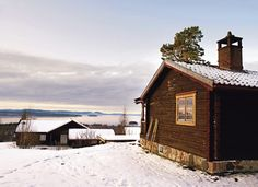 my scandinavian home: A romantic log cabin with a twist
