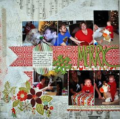 """Random Memories: Two Page Layout - """"Merry Christmas"""""""