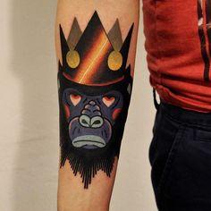 Gorilla Tattoo By Marcin Aleksander Surowiec... - Tattoo Designs