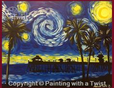 Painting With A Twist PWAT PaintingWithATwist Texas Night Sky