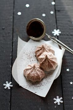 Petites meringues chocolat cannelle