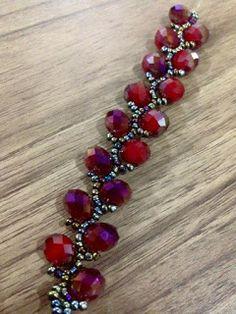 EGDONE Bead Jewellery, Diy Jewelry, Beaded Jewelry, Jewelry Accessories, Jewelry Making, Beaded Bracelets, Handmade Beads, Handmade Bracelets, Beaded Necklace Patterns