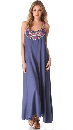 ~♥♥♥~NOTE: Click IMAGE for 360 gif~♥♥♥~  Mara Hoffman Electric Casino Beaded Cover Up Maxi Dress