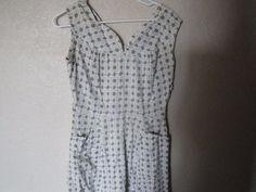 Vintage 1940's 40s Cotton Day Party Dress Paisley  Print Design Dress Jacket  #EmpireWaist #EverydayParty