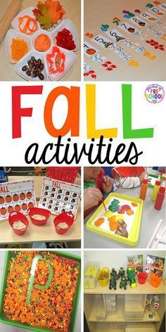 Fall math, literacy, fine motor, art, sensory, science, and dramatic play…