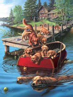 Every kit gives you a chance to create a work of art you can be proud of. This diamond painting kit Happy Paintings, Dog Paintings, Plaid Paint By Number, Pet Dogs, Dogs And Puppies, Summer Dog, Wildlife Art, Adult Coloring Pages, Dog Art