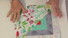 She Pieces Half Of A Log Cabin Pattern And Half Of A Triangle…Watch What She Does! | DIY Joy Projects and Crafts Ideas