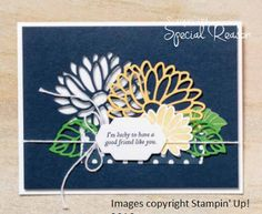 RubberFUNatics: Good Friend: Special Reason, Stylish Stems, Stampin Up 2017 Pretty Cards, Cute Cards, Stampin Up Catalog, Stamping Up Cards, Scrapbook Cards, Scrapbooking, Flower Cards, Creative Cards, Homemade Cards