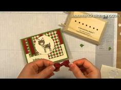 How to Make a Christmas Card Using Stampin' Up!'s No Peeking Stamp Set - YouTube
