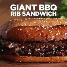Giant BBQ Rib Sandwich (To Feed A Crowd)