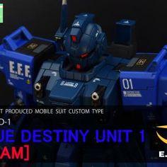 Gundam Model, Sns, Mobile Suit, Type 1, Tr 6, Destiny, The Unit, Blue