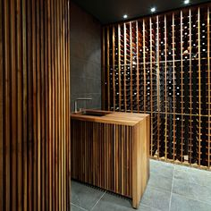 "Wine cellar in Zagreb by 2A.  This could have been one of my ""Beauty in Motion"" had a bottle been open!  I'd drink to that;)"