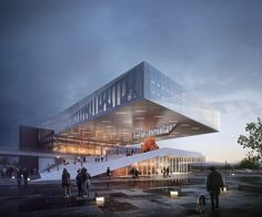 Image result for Plassen Cultural Center | 3XN Architects
