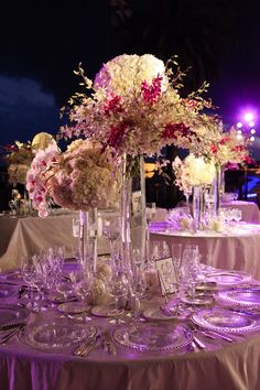 wedding centerpieces, low centerpiece, modern centerpiece, fisher