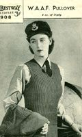 W.A.A.F. Pullover ~ and more Ladies World War 2 knitting patterns available in pdfs ~ United Kingdom