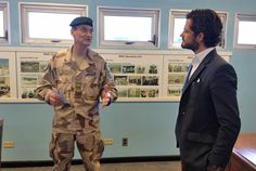 Prince Carl Philip of Sweden visiting South Korea, visited the border betweens South Korea and North Korea.