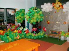 como fazer decoração com balões em festa de aniversario infantil